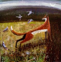 by Mary Sumner via Animalarium: Foxes Den