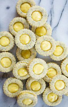 Lemon Poppy Seed Linzer Cookies by Knead Bake Cook Sweet Cookies, Cut Out Cookies, Sweet Treats, Drop Cookies, Lemon Cookies, Chocolate Whoopie Pies, Chocolate Chip Cookies, Lemon Desserts, Dessert Recipes