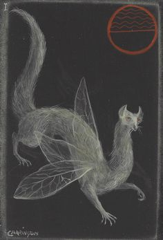 Leonora Carrington, Myth of 1,000 Eyes, circa 1950. Another demonstration of her lifelong fascination with mythical beasts.