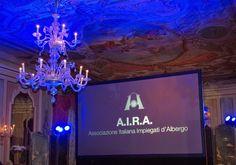 Particolare del Salone Marco Polo durante l'emozionate introduzione alla Cena di Gala.