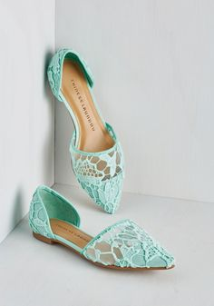 On the Path to Poise Flat in Mint, #ModCloth