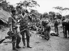 A still from 'La 317eme Section' a 1965 French film set during the Indochina War