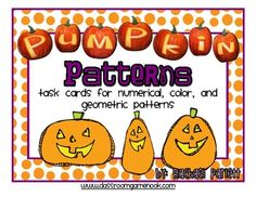 Freebie pumpkin task cards for practicing numerical, color, and geometric patterns! (scheduled via http://www.tailwindapp.com?utm_source=pinterest&utm_medium=twpin&utm_content=post13532128&utm_campaign=scheduler_attribution)