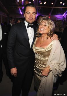Pin for Later: The 46 Best Pictures From Last Year's Oscars!  Despite not taking home any awards, Leonardo DiCaprio brought his mom, Irmelin, along to celebrate at the Vanity Fair afterparty.