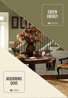 Balance Light And Dark With This Earthy Color Combination Of Behr Paint In Mourning Dove