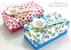 SpringWatch 2015 Rectangular Floral Lidded Box Tutorial    Gift Box 12 Lidded Directions done.  :)