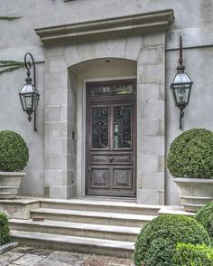 Yong Pak and Dan Carithers Team Up To Create Maison Des Bois a French Estate - June 22 2019 at Best Exterior Paint, House Paint Exterior, Exterior House Colors, Exterior Design, Barn Door In House, House Entrance, Entrance Ideas, House Wall, Country Front Door