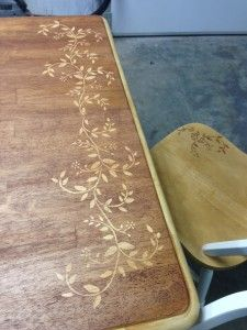 The Homestead Survival | How To Stencil A Dining Room Table DIY Project | http://thehomesteadsurvival.com