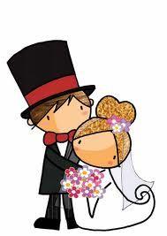 Dibujos Clipart Digi stamps  Wedding Just Married Car  Dibujos