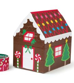 Duct Tape Gingerbread House