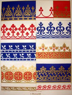 Border patterns - Gothic Revival