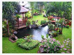 Tropical Backyard - Home and Garden Design Idea's