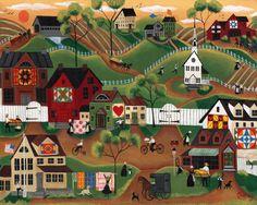 A Centennial Quilt  Sampler Show Folk Art Village