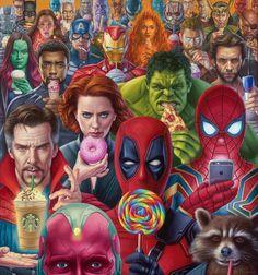 marvel/ Avengers/ you can notice batman there Marvel Avengers, Ms Marvel, Humour Avengers, Marvel Funny, Marvel Memes, Marvel Comics Art, Die Rächer, Avengers Wallpaper, Avengers Memes