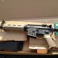 Colt M4 w/ Magpul accessories.