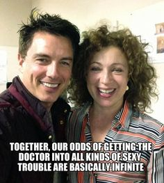 Captain Jack Harkness and River Song...if this is a recent picture I will weep fangirl tears of joy