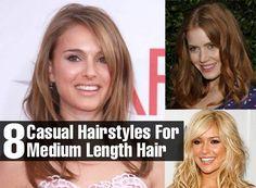 8 Casual Hairstyles For Medium Length Hair