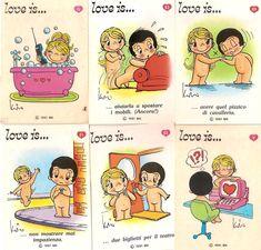 Negli anni Sessanta Kim Grove, cartonista neo zelandese, messaggiava così con il suo innamorato italiano Roberto Casali... ♥