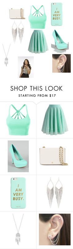 """""""spencer hastings"""" by sarahgale98 ❤ liked on Polyvore featuring LE3NO, Chicwish, Tory Burch, ban.do, Jules Smith, Lucky Brand and Otis Jaxon"""