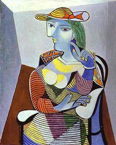 座る女 FEMME ASSISE DANS FAUTEUIL 坐着的女人(193... : 【変化する作風】パブロ・ピカソの絵画(Pablo Picasso)(巴勃罗·毕加... - NAVER まとめ