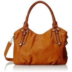 MG Collection Mimi Tote Slouchy Hobo Convertible Shoulder Bag ($36) ❤ liked on Polyvore featuring bags, handbags, shoulder bags, slouchy hobo handbag, hobo purse, brown shoulder bag, hobo shoulder bag and brown tote