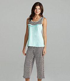8040e9e763 Sleep Sense Aruba Blue Tank   Dot Print Capris. Penny Murdaugh · Pajama  Party