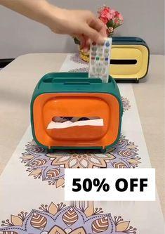 Tissue Box Holder, Tissue Box Covers, Tissue Boxes, Tissue Paper Crafts, Tissue Paper Flowers, Pen Storage, Craft Storage, Wipes Dispenser, Diy Party Decorations