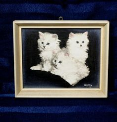Vintage Cat Tinted Photo/ Bradley Currey/ White by CurioCabinet, $18.00