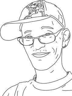 Bekijk de portret animatie van Airbrush-Jeffrey. Jeffrey doet mee met de Kunst Kalender 2014.