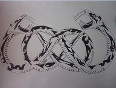 Snake double infinity tattoo