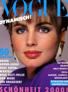 ALEXA SINGER   Vogue Cover (Germany)   October 1985