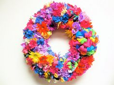 "Spring Wreath Spring Mix Silk Floral by SandyNewhartDesigns  Take 10% off ALL Spring, Summer, Easter and Valentine's Day items in my shop! Just enter ""SPRING10"" @ checkout!"