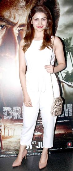 Prachi Desai at #Drishyam screening. #Bollywood #Fashion #Style #Beauty