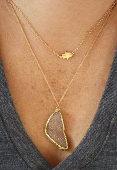 jewels hamsa hamsahand dainty simple gold necklace cute jewelry - Kimbra Ladies Fashions