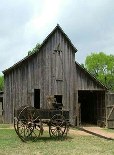 old barn and wagon