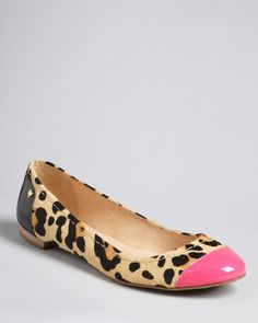 kate spade new york Exotic Cap Toe Ballet Flats - Terry | Bloomingdale's