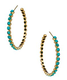 julie vos gold/turquoise hoops