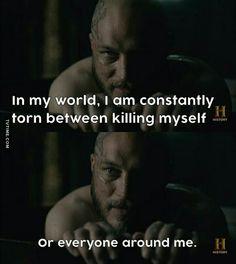 Same, dude. Vikings Show, Vikings Tv Series, Viking Life, Viking Warrior, King Ragnar, Earl Ragnar, Movie Quotes, Funny Quotes, True Quotes