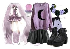 """purple pastel goth"" by angel-x3 ❤ liked on Polyvore featuring Blume, H&M and MIGH-T BY KUMIKO WATARI"