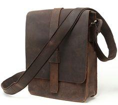 Men's Real Leather Cowhide Bag Genuine Leather Shoulder Bag Briefcase Messenger  B208