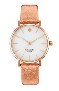 kate spade new york 'metro' metallic strap watch, 34mm available at #Nordstrom