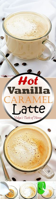 Hot Vanilla Caramel Latte - Better than Starbucks! And very similar to Wake Up Call coffee shop. At least that's what my kids say… But seriously, with a variable of where you get the coffee from, this latte is truly a great tasting drink. Hot Coffee, Coffee Cafe, Coffee Drinks, Coffee Shops, Sweet Coffee, Espresso Coffee, Starbucks Coffee, Starbucks Vanilla Latte, Cheap Coffee