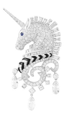 § Van Cleef & Arpels diamond unicorn brooch / pin, animal jewelry