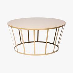 table basse dorée hollo