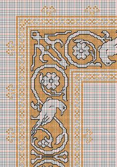 """Embroidery and embroider:working drawings for big design """"bird-square"""""""