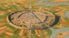 Mari, Syria. This is a reconstruction of the amazing fortified city of Mari. Founded around 2,900 BC, this massive ancient city was once possibly the largest in the world. It was protected by two huge circular sets of walls and towers almost 2 km in diamet - Imgur