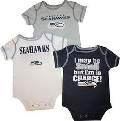 fb0c81687 Seattle Seahawks 3pc Creeper Bodysuit Set Infant Baby Charge