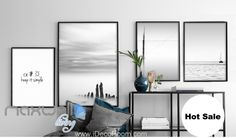 Keep it simple Lake Shadow Canvas Prints Wall Decals Home Art Decor Unframed IDCCV-BO-000131
