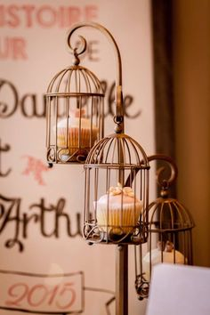 Cage cupcakes shabby chic