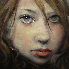 "Oil Painting Original by Moonglance OOAK 5""x5""x1 5 "" Portrait   eBay"